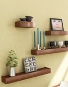Floating shelves is nice choice for your home decoration.